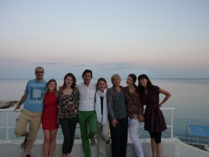 (from left) Harry, Jana, Lara, Manos, Flavia, Vivien, Caroline, Ana